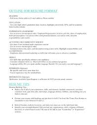 Resume Order Of Sections Resume Experience Section Of Resume 18