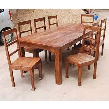 solid wood kitchen table rustic 8 person large kitchen dining table solid wood 9 pc chair set