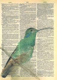 great idea to paint on old dictionary pages fun to match up picture with words on the page perfect for journal sping or collage orlovely matted