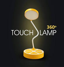 unique table lamps student bedroom lemon touch desk light lighting uk weather