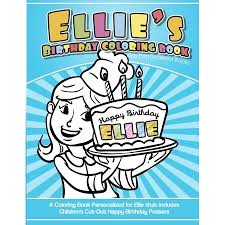 Ellies Birthday Coloring Book Kids Personalized Books A Coloring