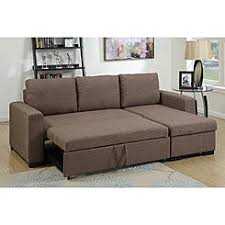 sectional sofa bed with storage. Poundex PX 2-Pcs Light Coffee Fabric Storage Chaise Sectional Sofa Bed With