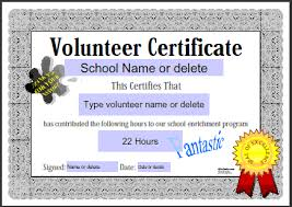 Community Service Hours Certificate Template Frugalhomebrewer Com