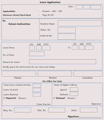 School Application Forms Templates Blank Leave Application Form Templates 8 Pdf Samples