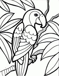 Parrot Bird Coloring Pages Gif 12501626 Pixels Maryelas Pins