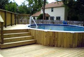 semi inground pool ideas. Semi Inground Pool With Deck Ideas Backyard Design Designs .