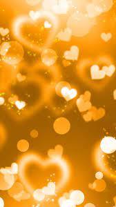 Golden Heart Wallpaper Hd