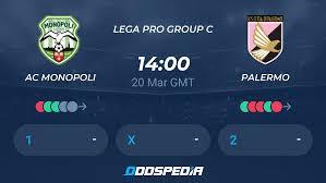 AC Monopoli - Palermo » Live Score & Stream + Odds, Stats, News