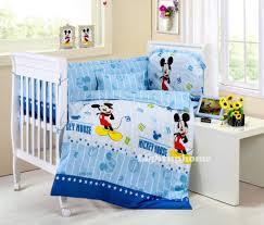 mickey mouse crib sheet set blue mickey mouse crib bedding cotton bedding