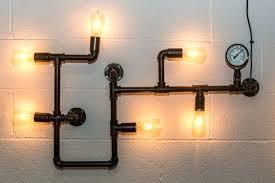industrial lighting bathroom. Industrial Look Lighting Pipework Wall Light Large Style Fitting Bathroom