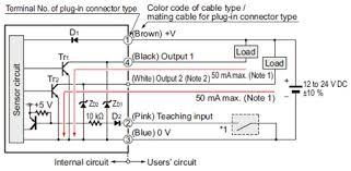 digital mark sensor lx 100 i o circuit and wiring diagrams npn output type lx 101 z