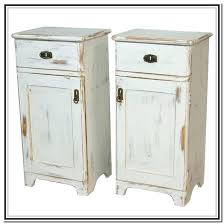 vintage white bedside table 2 drawer antique