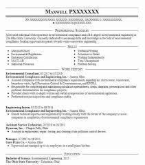 Environmental Consultant Resume Sample Livecareer