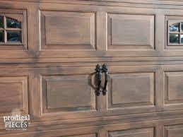 rustic garage doorsFaux Wood Garage Door Tutorial  Prodigal Pieces