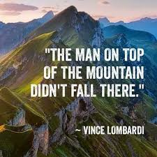 """Vince Lombardi """"mountain top"""" quote that is paralleled to great SEO"""