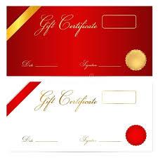 ornate gift voucher vine template vector money certificate free