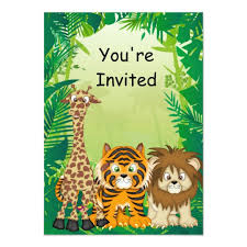 Jungle Theme Birthday Invitations Jungle Theme Birthday Invitations