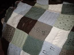 knitted squares | knit club & Becky's blanket close up Adamdwight.com