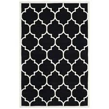 patterned area rugs safavieh cht733k ham area rug black ivory canada