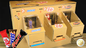 How To Make A Candy Vending Machine Out Of Cardboard