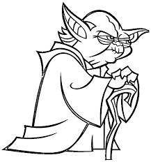 Small Picture Star Wars Coloring Make Photo Gallery Yoda Coloring Pages at