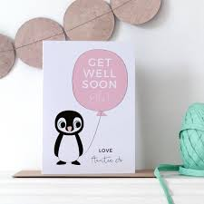 Get Well Card Personalised Get Well Soon Card