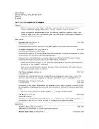 Sample Resume For Building Maintenance Technician