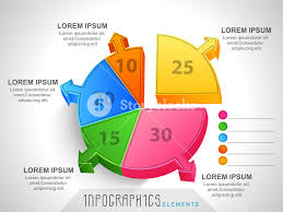 Colorful 3d Pie Chart Infographic Showing Different