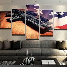 modular fotos quadro de parede 5 painel da lona arma hd impresso pintura da arte popular