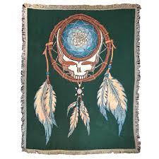 Dream Catcher Blankets Grateful Dead Dreamcatcher Stealie Woven Cotton Blanket Little 76