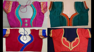 Different Types Of Blouse Back Neck Designs 2016 Top 100 Patch Work Blouse Designs Back Neck Blouse Patterns