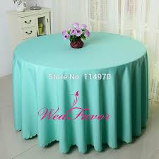 10pcs tiffany blue polyester round table covers wedding table cloths table linens for banquet event hotel decoration