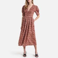 <b>Платье длинное</b> на пуговицах, с цветочным принтом наб ...