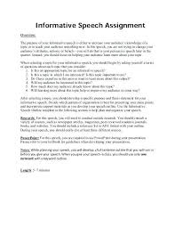 Informative Speech Outline Template The Informative Speech Outline Template Free Assignment