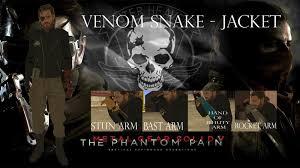 venom snake jacket metal gear solid v the phantom pain