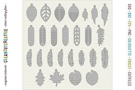 set of 26 faux leather earrings svg dxf eps png craft file example image 2