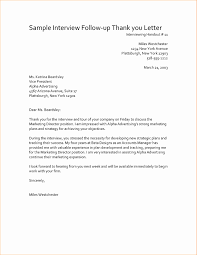 Interview Follow Up Letter Template Follow Up Thank You Letter After