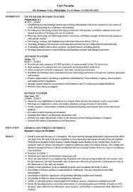 Massage Therapist Resume Spanish Teacher Resume Resume Cover Letter Daycare Position Puter 68