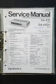 technics sa stereo receiver original service manual manual technics sa 410 stereo receiver original service manual manual wiring diagram