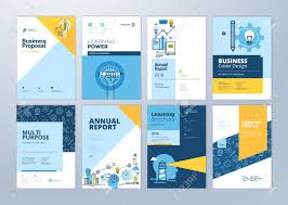 Design Brochure Online Free Set Of Brochure Design Templates On The Subject Of Education