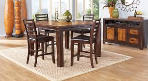 Adelson Chocolate 5 Pc Counter Height Dining Room Sets Dark Wood on 15.