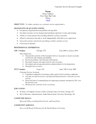 Objectives For Resumes Customer Service Resume Objective Samples