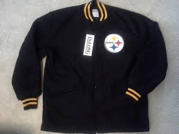 nwt pittsburgh steelers varsity jacket l