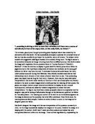 artist analysis zac smith gcse art marked by teachers com page 1 zoom in