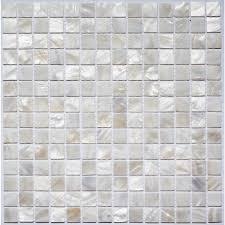 white shell mosaic