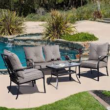 picture of outdoor patio furniture set tea table chairs 4 piece