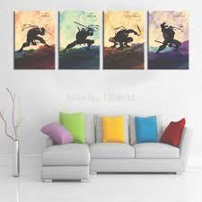 2015 hand painted oil painting on canvas teenage mutant ninja with regard to ninja turtle on turtle wall art painting with photo gallery of ninja turtle wall art viewing 2 of 16 photos