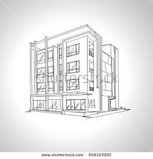 modern home architecture sketches. Interesting Modern Sketch Of Modern House Architecture Drawing Free Hand  On Modern Home Architecture Sketches M