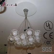 european hotel decorative clear glass round pendant lamp