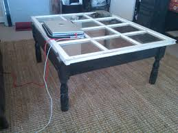 furniture black wooden coffee table with transpa glass top and white wooden frame on brown